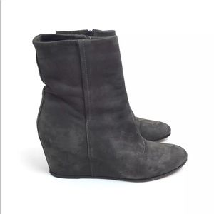 Vince wedge booties brown suede size 6.5